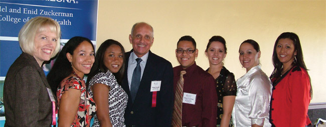 Chris Tisch, Richard Carmona and students