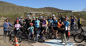 Bike Ajo and the Desert Senita Community Health Center hosted Bike & Hike in honor of National Diabetes Month in the Organ Pipe Cactus National Monument. (Photo courtesy of Bike Ajo)