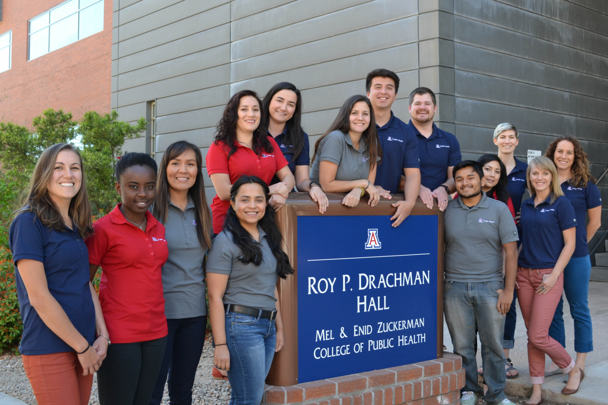 Ambassadors in Front of Drachman Hall