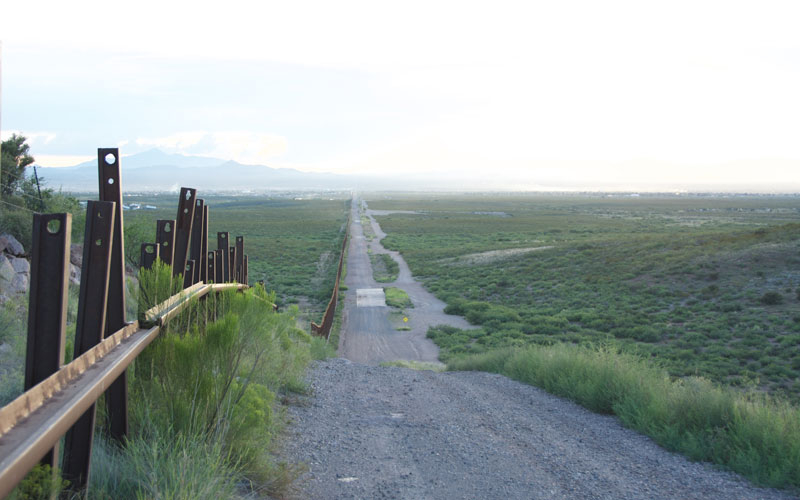 Arizona border in Douglas, AZ