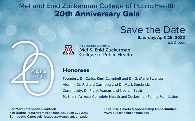 20th Anniversary Gala for College of Public Health