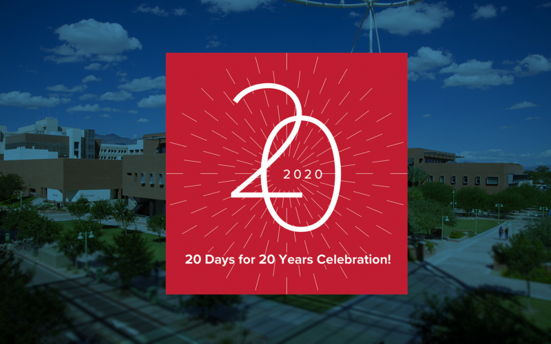 20 Days for 20 Years: College Celebrates 20th Anniversary!