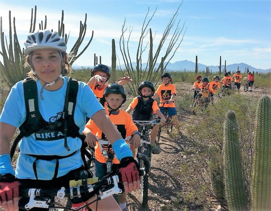 Cub Scout ride at Organ Pipe Cactus National Monument. (Photo courtesy of Bike Ajo)